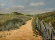 Sandy Path Among The Dunes